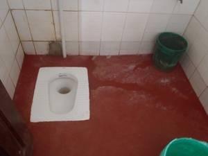 Eine landesübliche Toilette